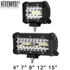 Security Lights For Cars 60w 120w 180w 4x4 Offroad Led Light Bar For Cars Combo Beams