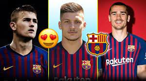 7 لاعبين سيتعاقد معهم برشلونة صيف 2019   بينهم نجم اليونايتد و2 من أياكس  ..! - YouTube