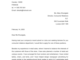 100 Sample Retail Sales Cover Letter Curriculum Vitae Cover