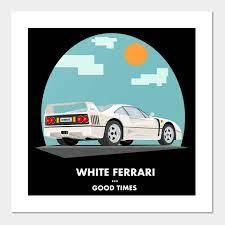 White Ferrari Frank Ocean Poster Und Kunst Teepublic De