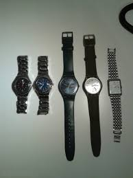 lot of 5 used mens watches swatch rebel irony accurist stainless lot of 5 used men s watches swatch rebel irony accurist stainless steel in