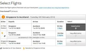 How To Do A Multistop Booking Air New Zealand Singapore
