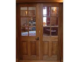 half glazed internal oak door