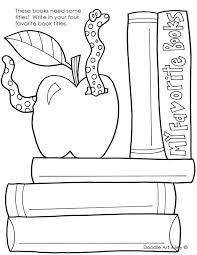 Small Picture Back to School Coloring Pages Printables Classroom Doodles