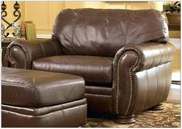 leather chair and a half recliner chairs home brown ashley furniture reviews i95