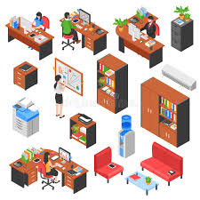 isometric office furniture vector collection. Download Isometric Office Elements Set Stock Vector - Illustration Of Laptop, Illustration: 82646149 Furniture Collection I