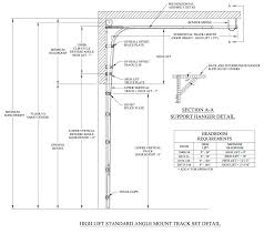 garage door details overhead lift types for tracks residential jamb detail commercial seal fi