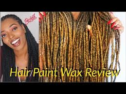 hair paint wax on locs review