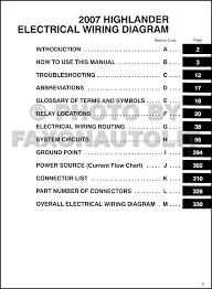 2007 highlander wiring diagram wiring diagram \u2022 2004 toyota tacoma wiring schematic 2007 toyota highlander wiring diagram manual original rh faxonautoliterature com 2004 highlander 2007 highlander interior
