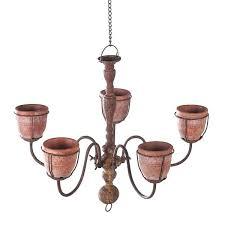 outdoor hanging chandelier chandelier planter with 5 cement indoor outdoor hanging flower pot basket in outdoor outdoor hanging chandelier
