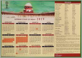 Calnedar Calendar Supreme Court Of India