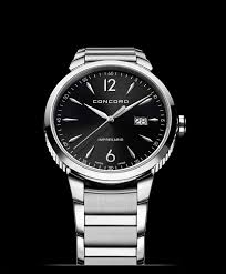 concord men s impresario 41mm stainless steel watch black model 0320325 concord impresario0320325 men s quartz watch