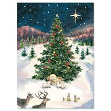 Christmas Cards Images Christmas Tree With Manger Religious Christmas Cards Current Catalog
