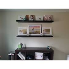 60 Inch Floating Shelves Classy Shop Lewis Hyman Wall Mounted 32inch Espresso Floating Shelf Free