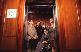 people in elevator. more than 325 million people ride an elevator every day in the u.s. e