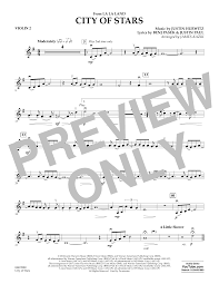 city of stars violin sheet music city of stars from la la land violin 2 sheet music at