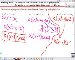polynomial factored form 5 2 yze and write from zeros 1216 standard parabola quadratic equation definition