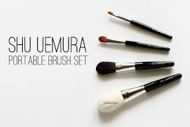 shu uemura portable brush set review