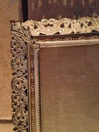 metal filigree rectangular easel stand picture frame