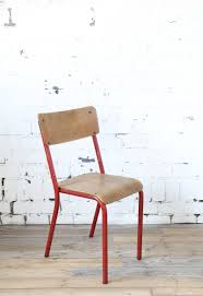red school chair. Modren Red MidCentury Red School Chair With I