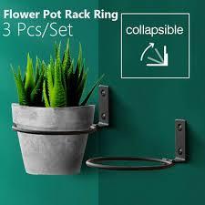 3 pcs flower pot tray wall mounted