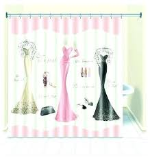 pink fabric shower curtain chic dressed to thrill fabric shower curtain liner dresses print accessories pink pink fabric shower curtain