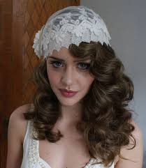 Image result for juliet cap veil with retro hair