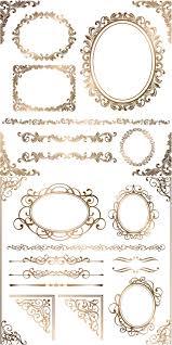 15 best vintage frames and borders images on pinterest vintage Wedding Card Frame Border Vector baroque floral frames, corners and borders vector ton more free vectors on Black Vector Border Frame