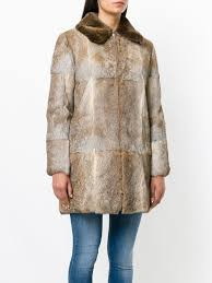 a p c zip up fur coat womens clothings a fur collar and a front zip fastening wixvoib