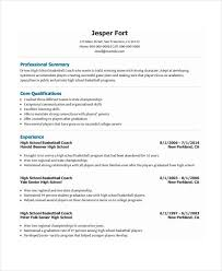 Coach Resume Template - 6+ Free Word, Pdf Document Downloads regarding High  School Basketball
