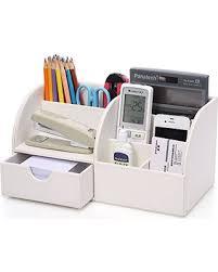 office desk storage. KINGOM 7 Storage Compartments Multifunctional PU Leather Office Desk Organizer,Desktop Stationery