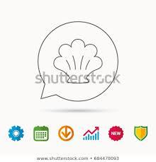 Seashell Chart Sea Shell Icon Seashell Sign Mollusk Stock Vector Royalty