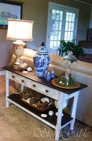 Sofa Table Decorations Painted Sofa Table Stonegable