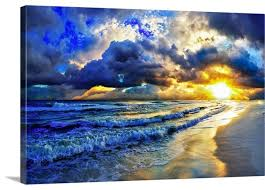 ocean sunset landscape beautiful beach
