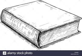 vector artistic drawing ilration of old closed book