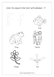 They will help to remember the alphabet, numbers, and account on the associative level. Alphabet Picture Coloring Pages Things That Start With Each Alphabet Free Printable Kindergarten Worksheets Megaworkbook