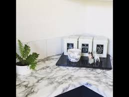 how to cover a bench top with marble contact paper