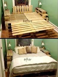 Bed Frame Made Of Pallets Best 25 Pallet Bed Frames Ideas On Pinterest Pallet  Beds Diy