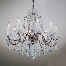 classic traditional chandelier atn2353 8 light pellucid crystal regarding attractive home bronze and crystal chandelier prepare