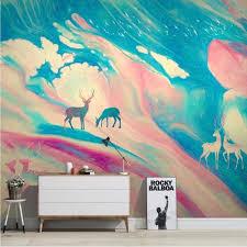 <b>Milofi manufacturers custom</b> 3D hand drawn elk abstract sky art ...