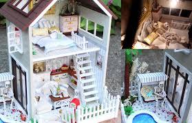 lighting for dollhouses. DIY Miniature Doll House Full Set With Lights, Bedroom, Kitchen, Living Room, Pool - YouTube Lighting For Dollhouses A