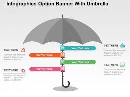 Free Umbrella Chart Template Infographics Option Banner With Umbrella Powerpoint