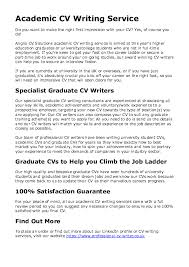 Cv For Part Time Job Doc Academic Cv Writing Services Resumes Cvs And