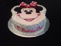 Minnie Mouse First Birthday Cake Minniemousecake Firstbirthdaycake