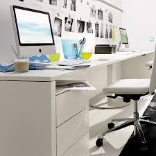 home office drawers. Ideas \u0026 Inspirations White Desk Office With Few Drawers Also Swivel Chairs And Computer Unit The Home