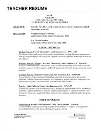 Cover Letter Elementary Education Resume Sample Middle School