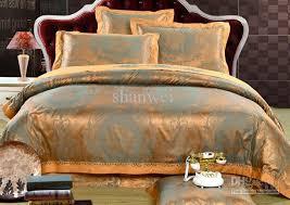 delicated gold man jacquard satin silk cotton comforter bedding set queen king duvet quilt cover sheet cushion sets kids comforters cotton comforter queen u78