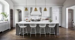 White Kitchen With Gray Island Transitional Kitchen Ryan