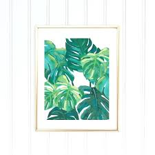 black framed leaf wall art
