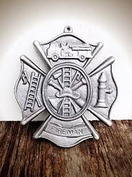silver metallic firefighter maltese cross metal wall art hanging modern fireman symbol cast iron plaque on maltese cross firefighter metal wall art with amazon silver metallic firefighter maltese cross metal wall art
